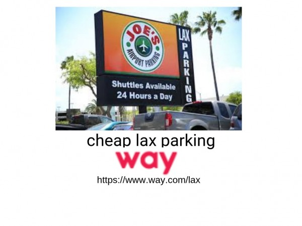Book and find the cheapest LAX parking with Way