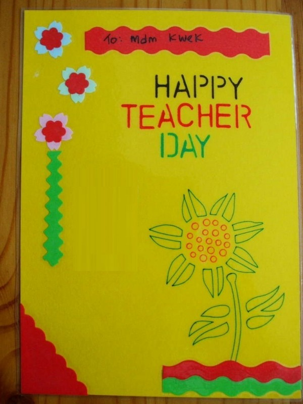 happy teacher day hand made greeting card 15628